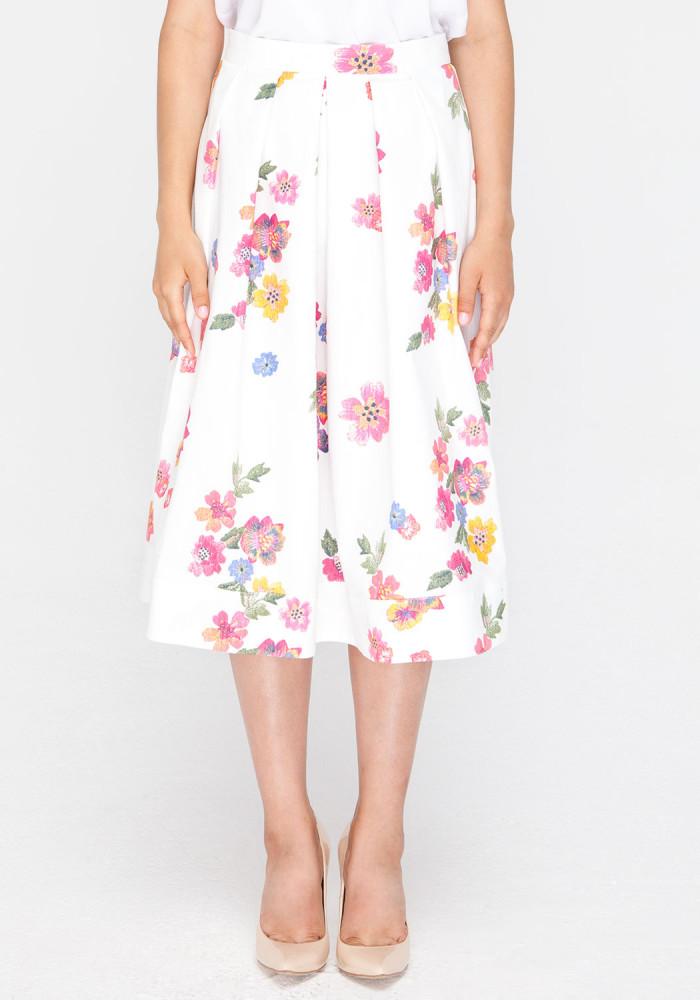 """Расклешенная юбка в цветочный принт """"Пейдж"""""""