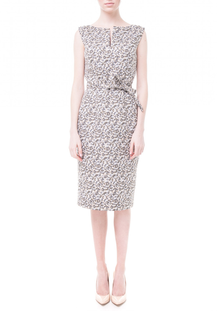 Khaki Sheath Dress Trenton