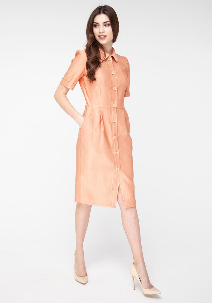 "Dress ""Pompedu"" golden salmon"