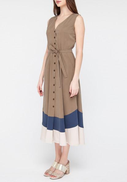 Khaki Shirt Dress Glady