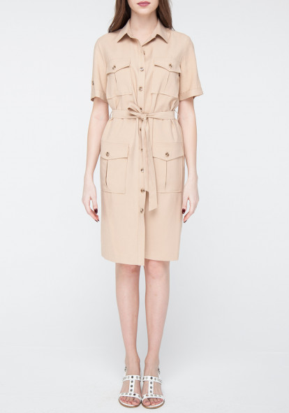 Sand-colored shirt dress Buggy