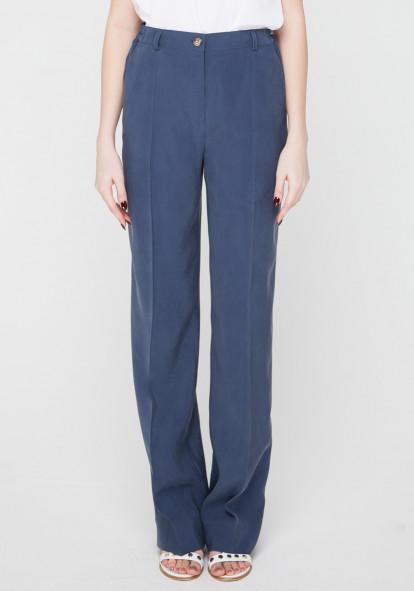 """Широкие брюки синего цвета """"Танзания"""""""
