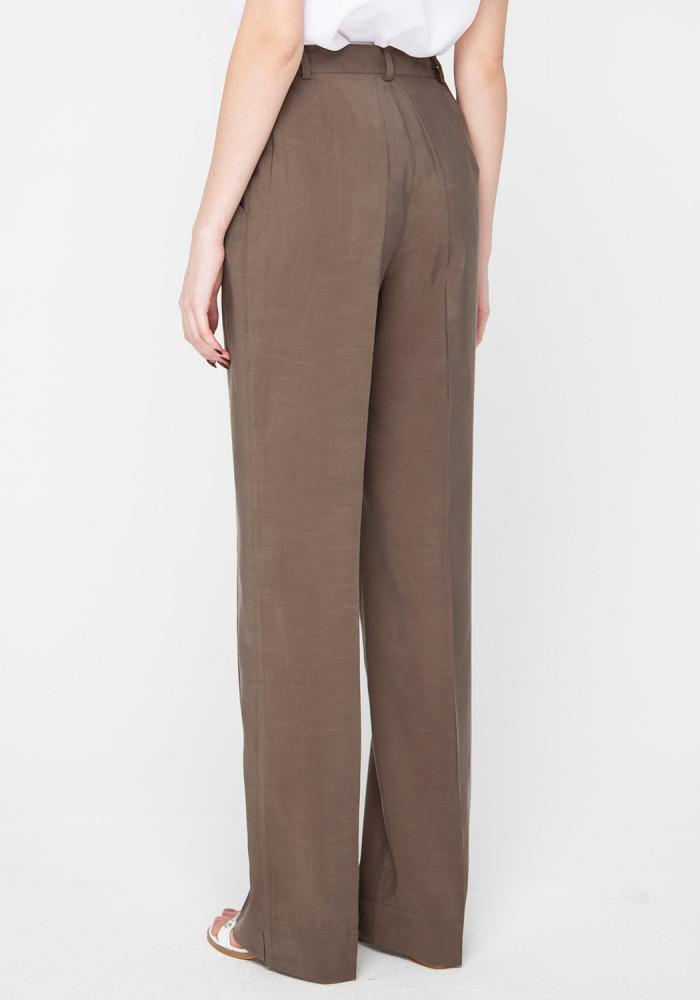 Wide leg trousers in khaki color Tanzania