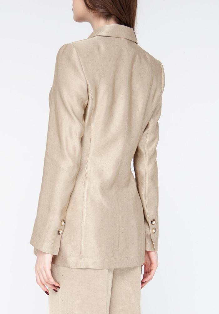 "Italian Linen jacket in golden sand color ""Chester"""