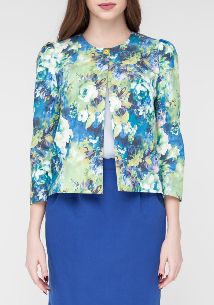 Short jacket with floral