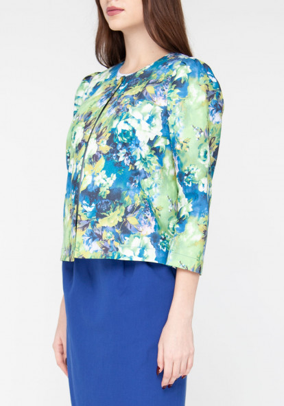 Short jacket with floral print Brighton