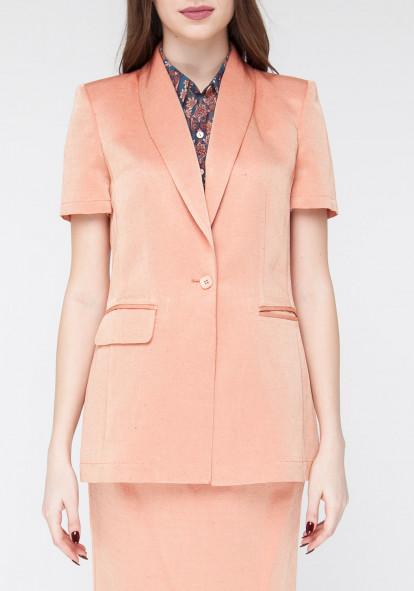 Linen jacket orange Evra