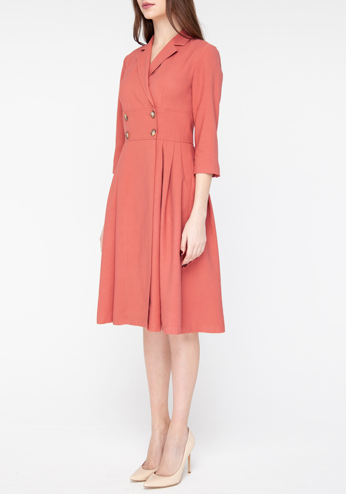 "Сукня-кльош кольору  марсала ""Бруклін"""