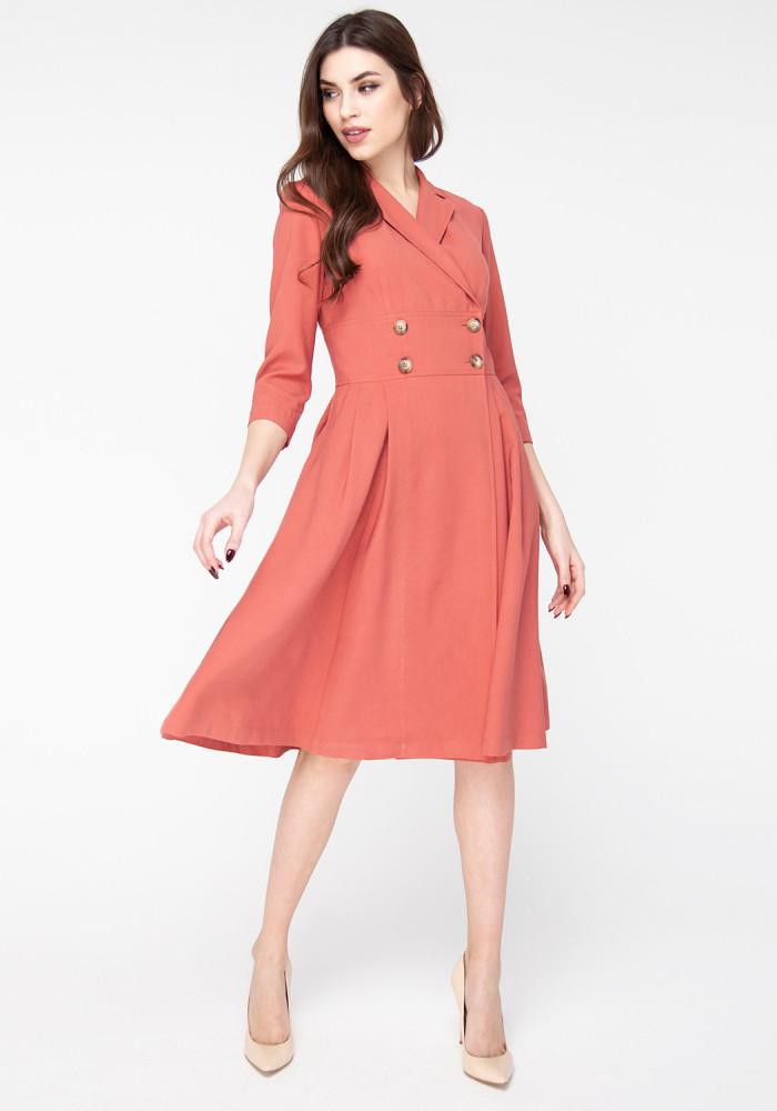 Marsala Flared Dress