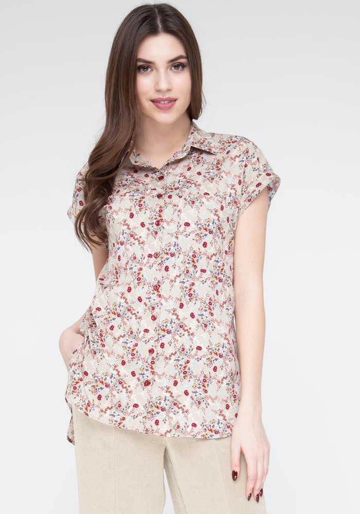"Blouse in a flower print ""Shavliya"""