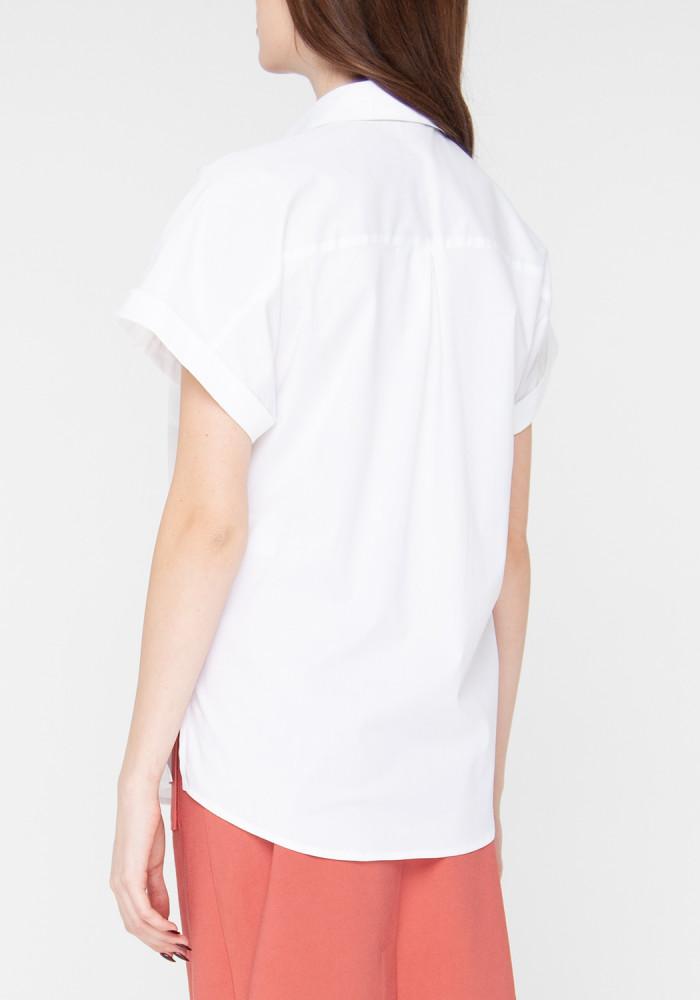 """Хлопковая блуза белого цвета """"Киара"""""""