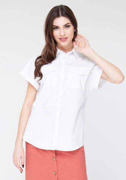 Cotton blouse white Kiara