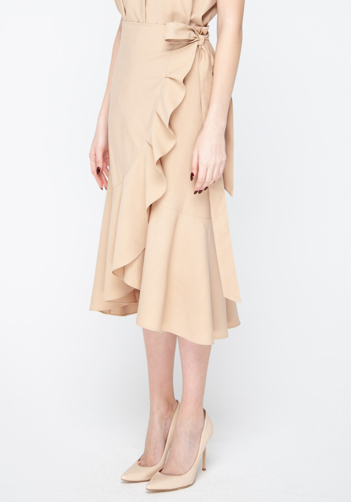 Sand-colored wrap skirt Kenіya