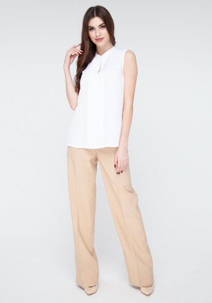 Wide-leg trousers in sand color Tanzania