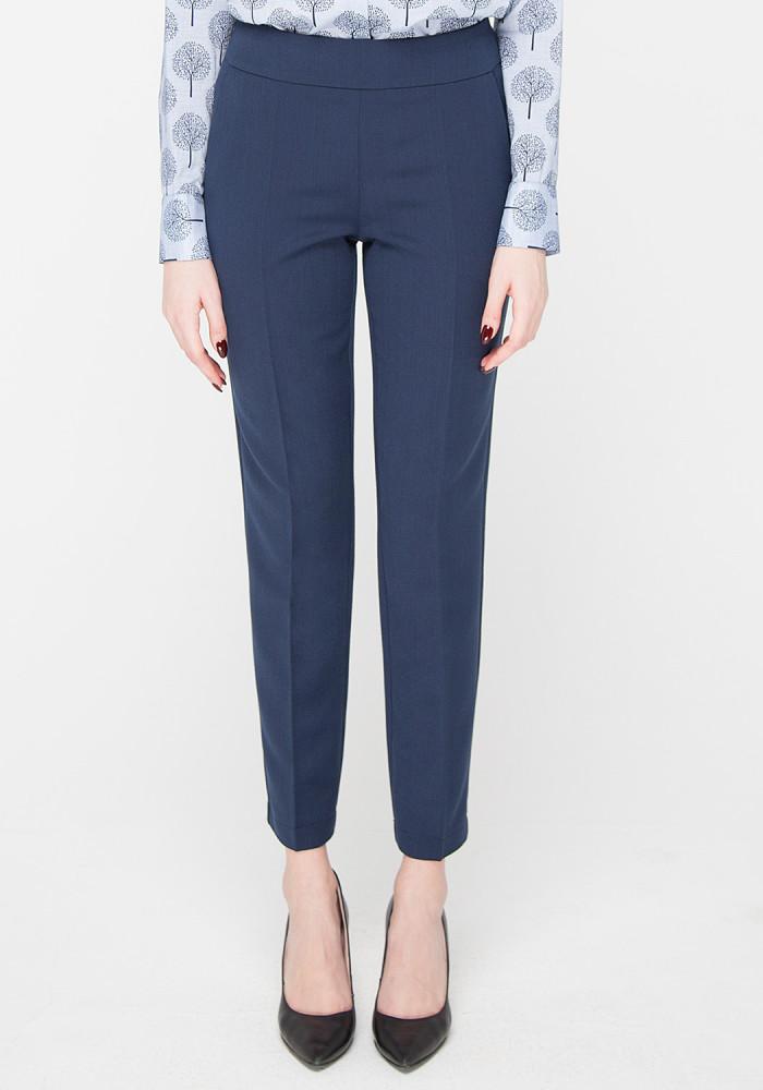 """Зауженые укороченые синие брюки """"Канти"""""""