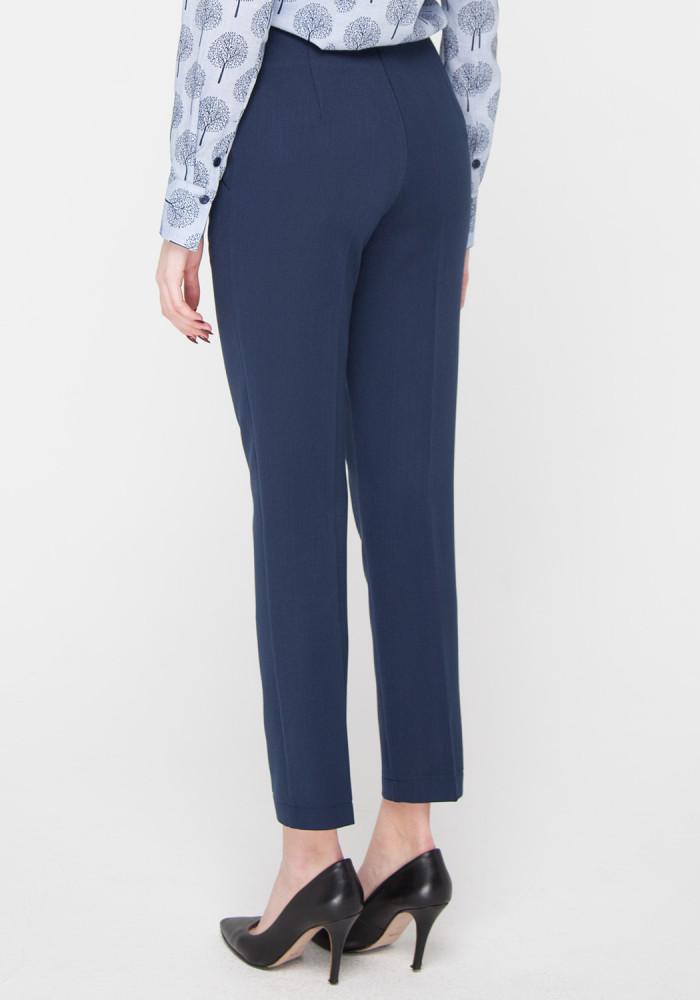 """Завужені вкорочені сині штани """"Канті"""""""