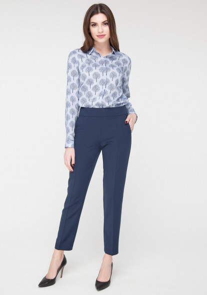 Blue Cropped Skinny trousers Canti