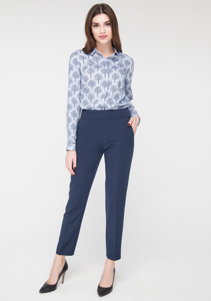 Blue Cropped Skinny Pants