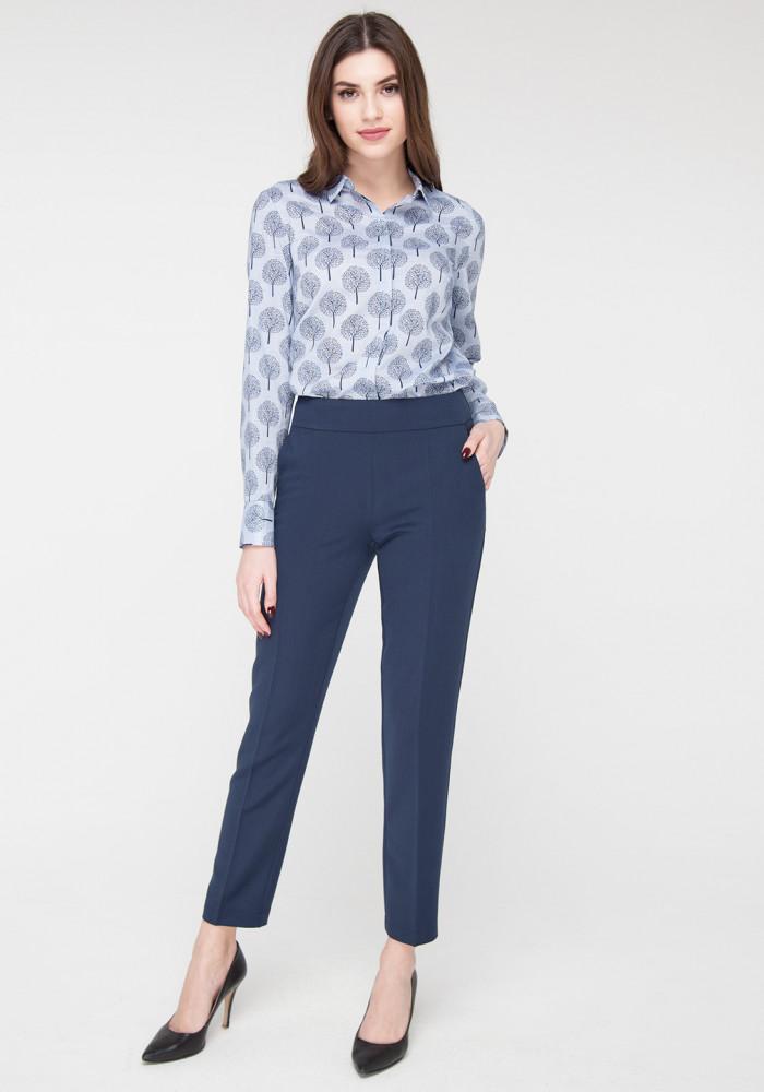 Завужені вкорочені брюки blue