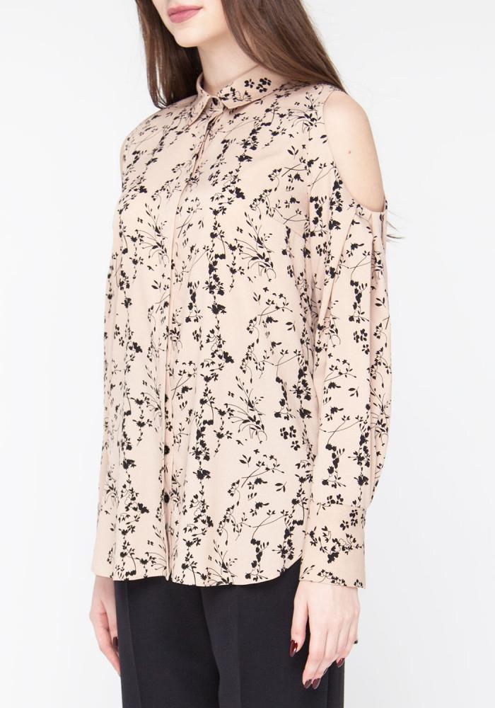 """Блуза з відкритими плечима бежевого кольору """"Труфалье"""""""