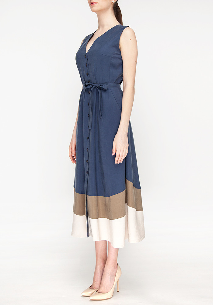 Dress with buttons blue Glady