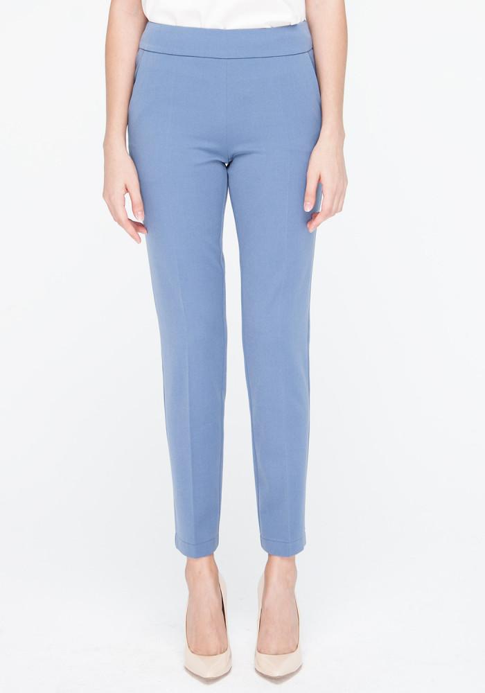 """Зауженые укороченые брюки цвета индиго """"Канти"""""""