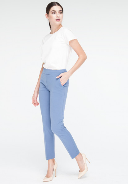 Indigo Cropped Trousers Canti