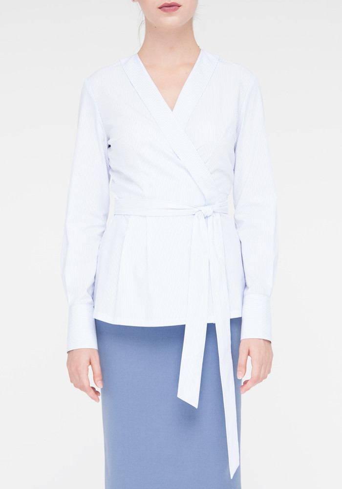 """Блуза з довгими рукавами з принтом в смужку """"Боско"""""""