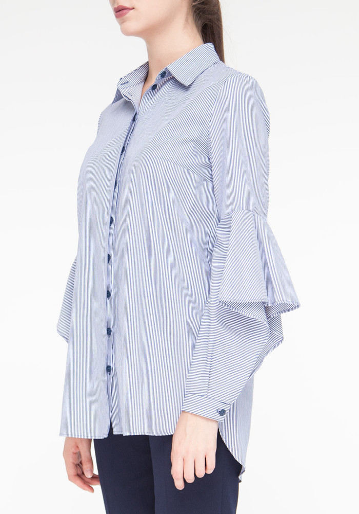 """Блуза прямого кроя с принтом в полоску """"Фенди"""""""