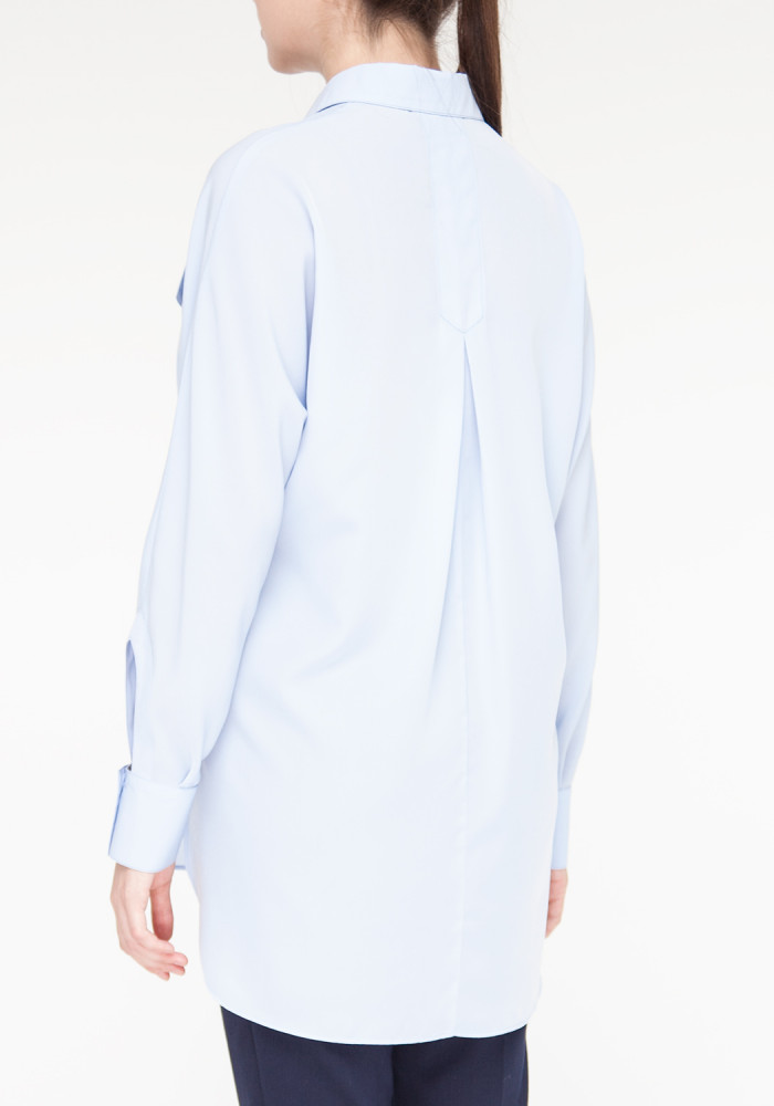 Blue blouse with long sleeves Gregori