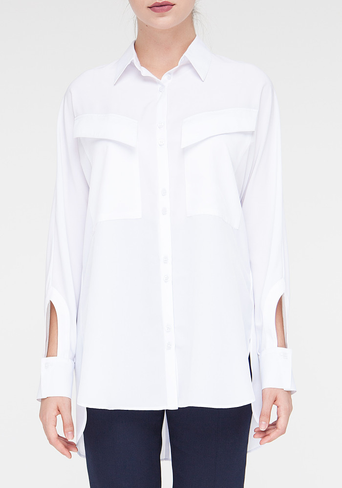 """Біла блуза з довгими рукавами  """"Грегорі"""""""