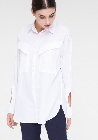White blouse with long sleeves Gregori