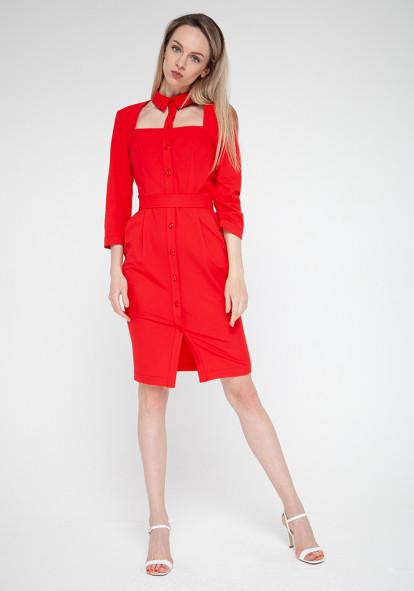 "Платье красного цвета ""Фламенко"""