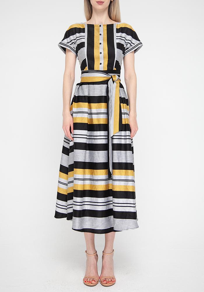 "Dress ""Fantasy"" with striped print"