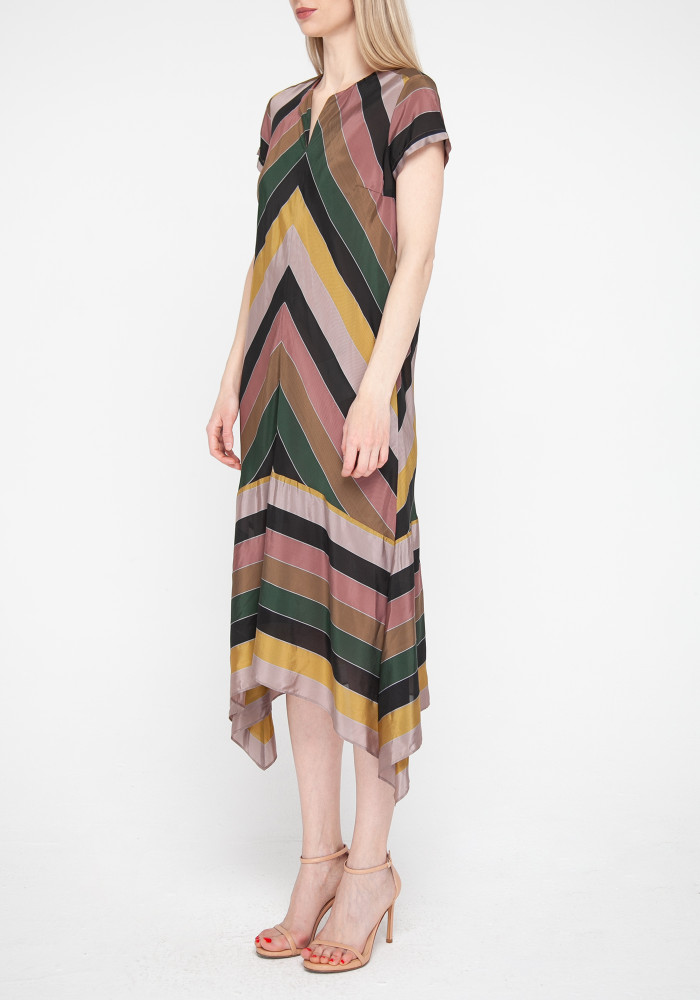 Midi dress with stripes Elegant