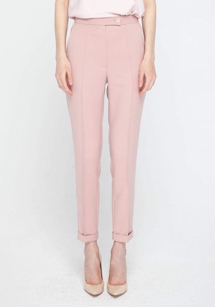"""Завужені штани кольору розової пудри """"Боссо"""""""