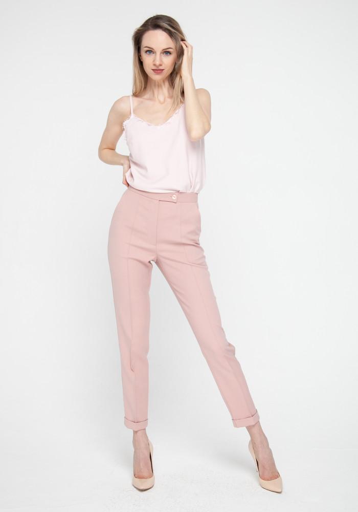"""Зауженные брюки цвета розовой пудры """"Боссо"""""""