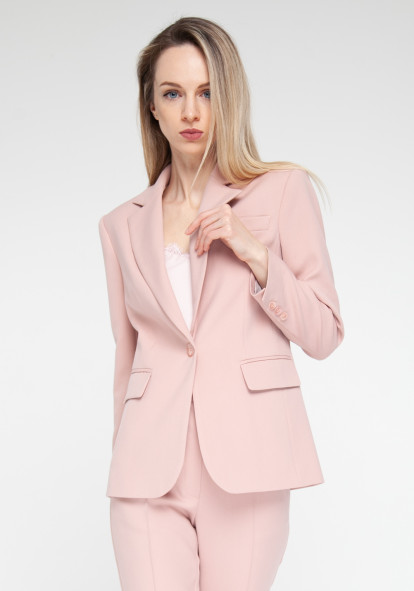 Еlongated jacket pink powder  Vancouver