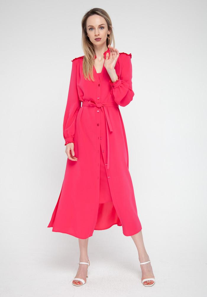 Crimson shirt dress Salvador