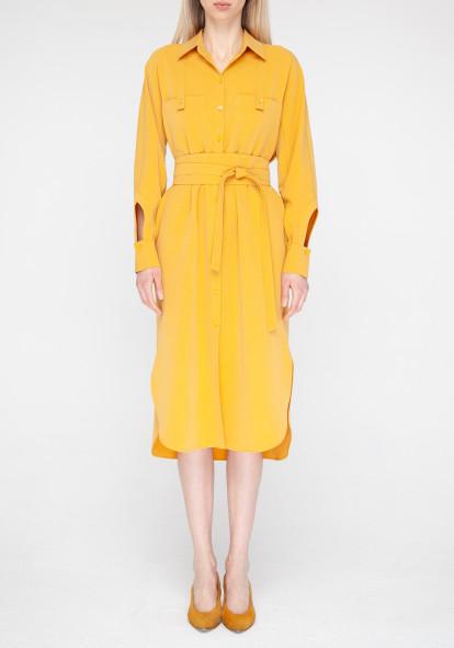 Mustard shirt dress Simona