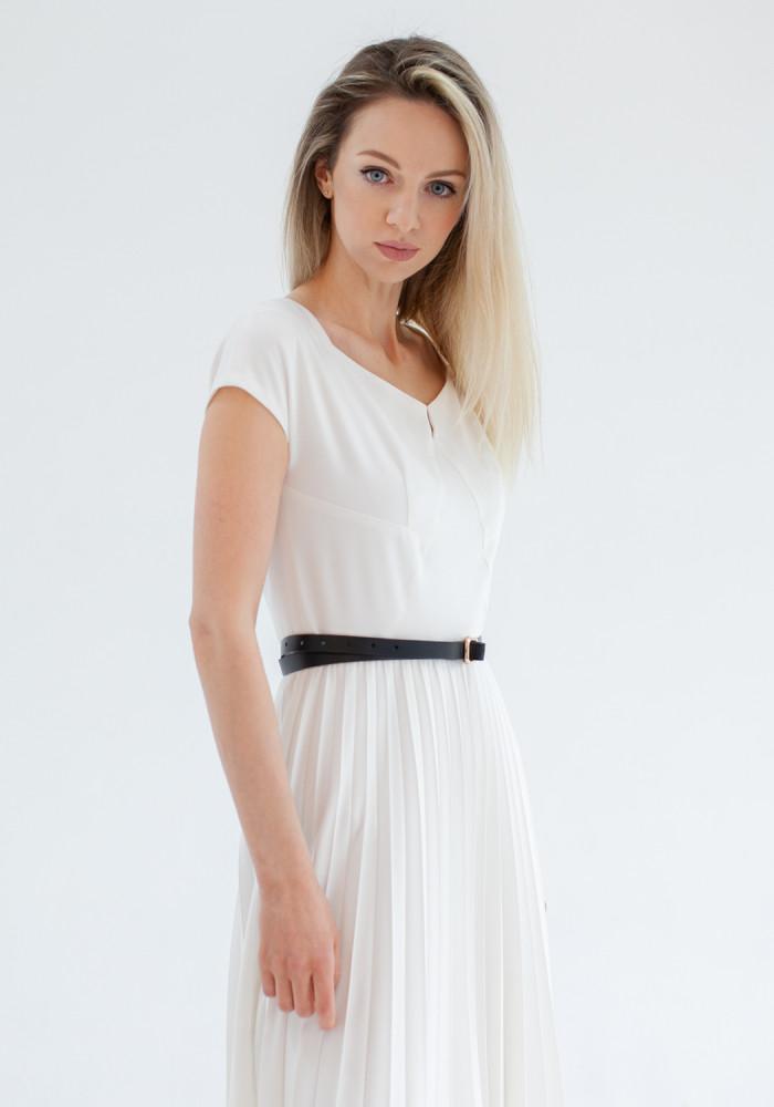 Flared white dress Clooney