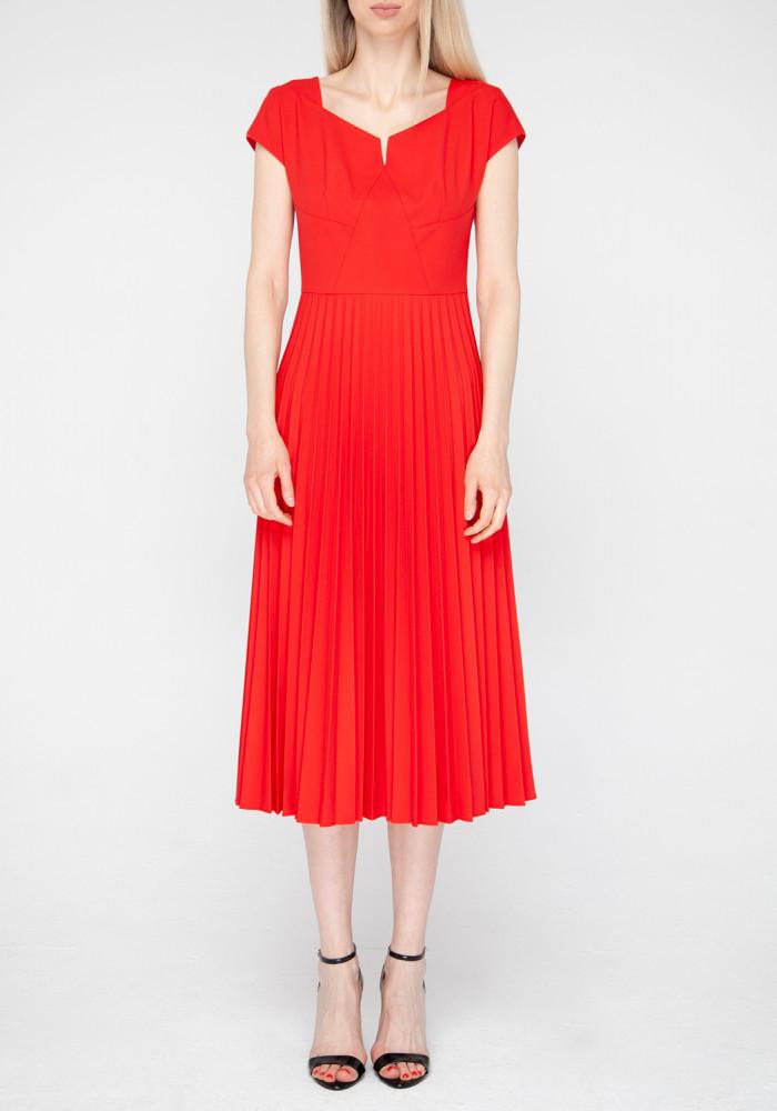 """Сукня-кльош червона """"Клуні"""""""