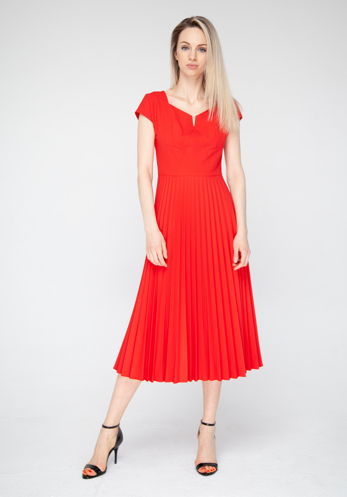 Flared Red Dress Clooney