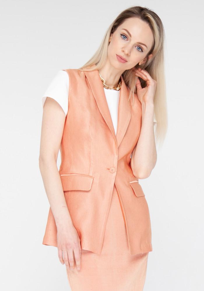 Linen orange vest Evre