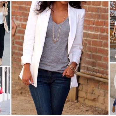Как носить летний женский пиджак